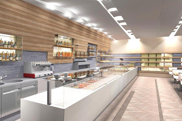 Lorusso contract progetta e realizza arredamenti di for Arredamento fast food